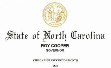 Governor Cooper Proclaims April 2020 Child Abuse Prevention Month